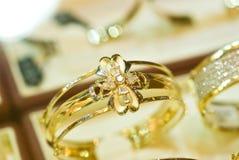 Gold bracelet 2. 2k gold bracelets, showing details of the workmanship Royalty Free Stock Image