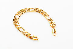 Gold bracelet Stock Photo