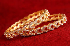 Gold bracelet Stock Images