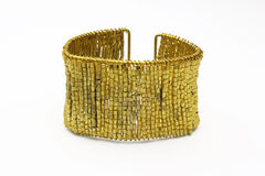 Gold bracelet Royalty Free Stock Photo