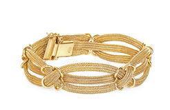Gold bracelet Royalty Free Stock Images