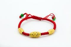 Gold bracelet Stock Photo
