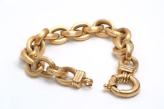 Gold bracelet Royalty Free Stock Photography