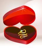 Gold bracelet. His gold bracelet in stylish red jewelery box Stock Illustration