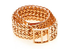 Gold bracelet Stock Images