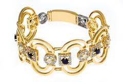 Gold bracelet Royalty Free Stock Photography