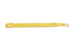 Gold bracelet isolated on white Royalty Free Stock Photos