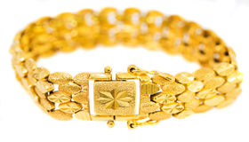 Gold Bracelet IV Stock Photography