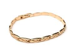 Gold bracelet royalty free stock photo