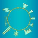 Gold bracelet Winter Royalty Free Stock Photo
