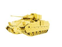 Gold Bradley Fighting Vehicle Tank Stock Images