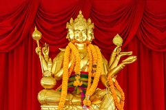 Gold Brahma statue Royalty Free Stock Photography