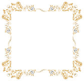 Gold branch border Stock Photo