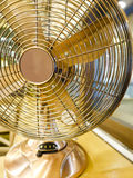 Gold Brass Metal Fan Royalty Free Stock Photography