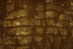 Gold brick wall Royalty Free Stock Photo