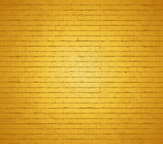 Gold brick wall. Stock Photography