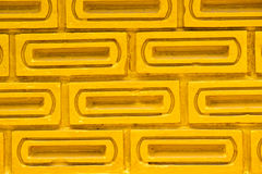 Gold brick wall. Royalty Free Stock Photography