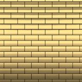 Gold brick wall, 3d render Stock Image