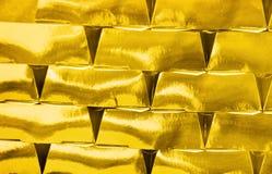 Gold bricks invest Stock Image