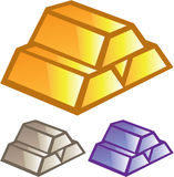 Gold bricks vector Royalty Free Stock Image