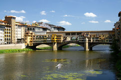 Gold bridge in Firenze royalty free stock photography