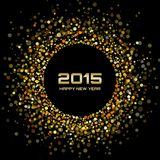 Gold Bright New Year 2015 Background. Vector illustration Stock Photography