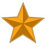 Gold bright star Royalty Free Stock Photography