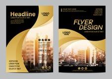 Gold Brochure Layout design template. Annual Report Flyer Leaflet cover Presentation Modern background. illustration vector in A4. Size vector illustration