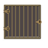 Gold or Bronze Cage or Jail Cell royalty free illustration