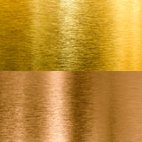 Gold and bronze metal texture backgrounds Royalty Free Stock Photography