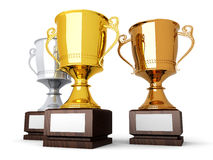 Gold Bronze and Silver Royalty Free Stock Images