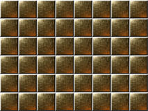 Gold / bronze tiles. Gold / bronze style tiles with bright corners Stock Photography