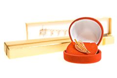 Gold brooch Royalty Free Stock Photo