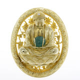 Gold brooch Royalty Free Stock Photos