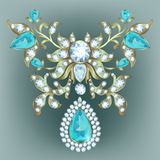 Brooch with diamonds Royalty Free Stock Photo