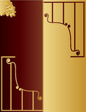 Gold and brown royalty free stock photos