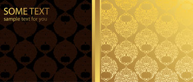 Gold and brown background Royalty Free Stock Photos