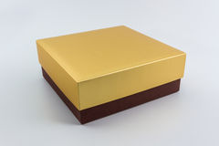 Gold and Brown box. Stock Photos