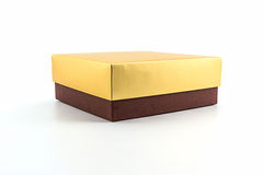 Gold and Brown box. Stock Photography