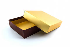 Gold and brown box. Stock Photo