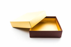 Gold and brown box. Royalty Free Stock Photography