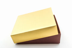 Gold and brown box. Royalty Free Stock Photo