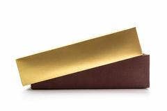 Gold and Brown box. Royalty Free Stock Image