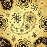 Gold and brown seamless pattern Royalty Free Stock Photo