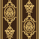 Gold and brown texture in vintage rich royal style. Stock Image