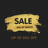 Gold brush abstract background  illustration. Super sale concept. End of season Stock Image