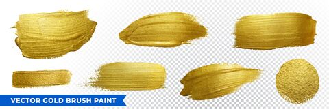Free Gold Brush Paint Strokes With Golden Glitter Texture. Vector Golden Sparkling Glow Background For Luxury Design Royalty Free Stock Image - 180027266