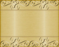 Gold brushed metal vector background Royalty Free Stock Photography