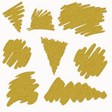 Gold brushes strokes Stock Photography