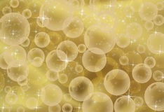 Gold Bubble Background Royalty Free Stock Photos
